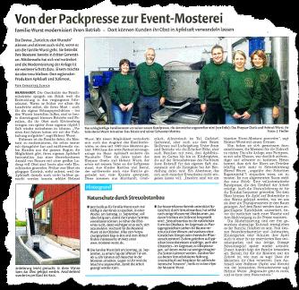 Artikel in der Murrhardter Zeitung